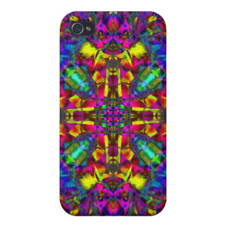 Purple Turquiose and Yellow Mandala Pern Case For The iPhone 4