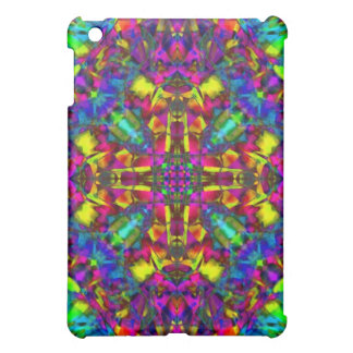 Purple Turquiose and Yellow Mandala Pern iPad Mini Covers