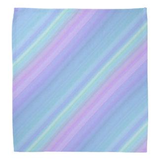 Purple Turquoise Green Blue Pastel Rainbow Bandana
