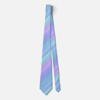 Purple Turquoise Green Blue Pastel Rainbow Tie