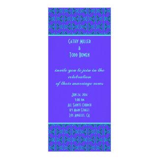 Purple Turquoise Tiki Wedding Invitations
