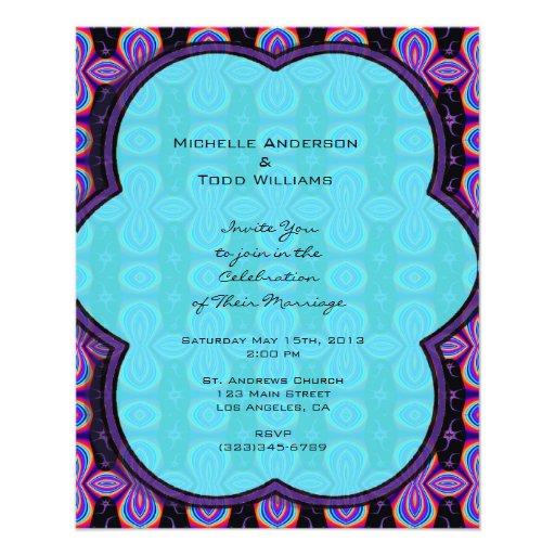 Purple Turquoise Wedding Custom Flyer