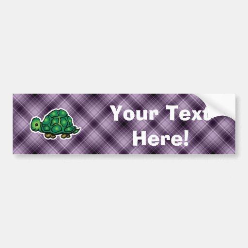 Purple Turtle Bumper Stickers