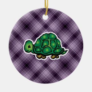 Purple Turtle Christmas Ornament