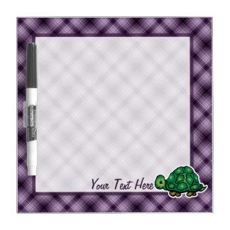 Purple Turtle Dry Erase Whiteboard