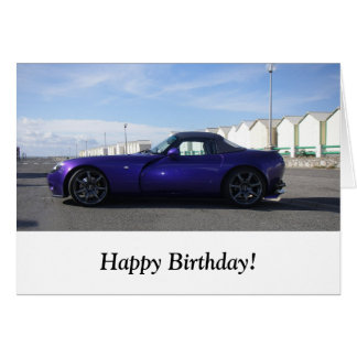 Purple TVR Birthday Card