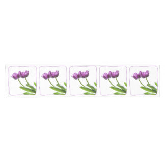 Purple Twin Tulips Spring Floral Isolated Photo