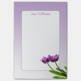 Purple Twin Tulips Spring Floral Isolated Photo Post-it® Notes