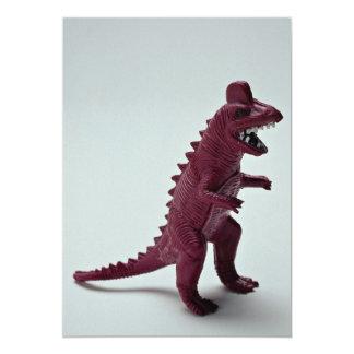 Purple Tyrannosaurus Rex 13 Cm X 18 Cm Invitation Card