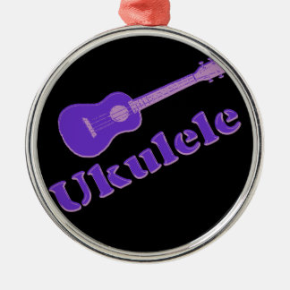 Purple Ukulele Christmas Ornament