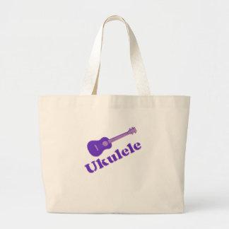 Purple Ukulele Jumbo Tote Bag