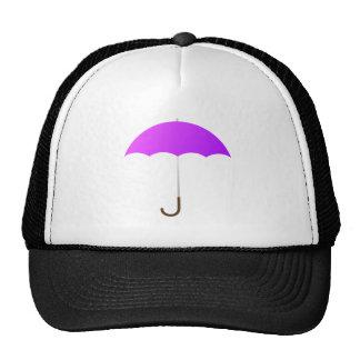 Purple Umbrella Mesh Hats