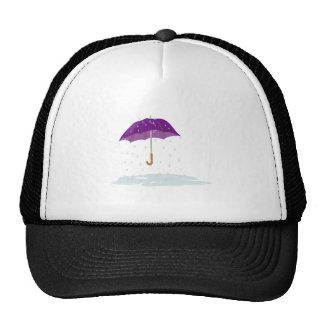 Purple Umbrella in the Rain Cap