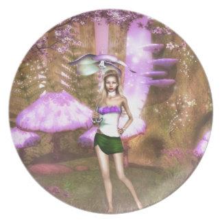 Purple Umbrella Plate