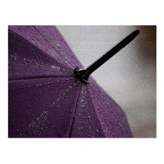 Purple Umbrella Postcard