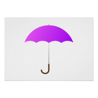Purple Umbrella Posters