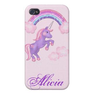 Purple Unicorn 4S  Case For The iPhone 4