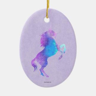 Purple Unicorn Christmas Ornament