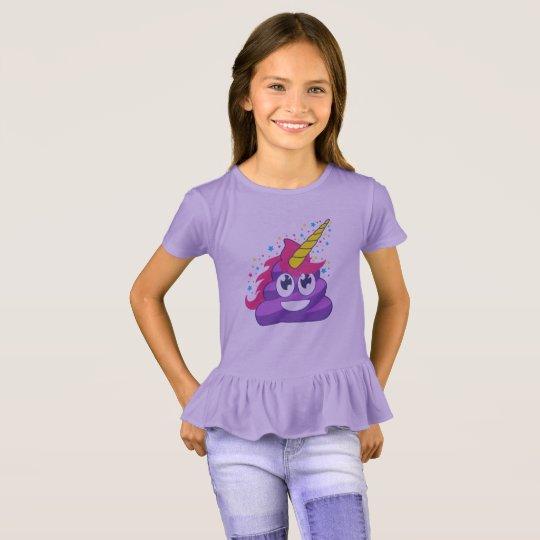 Purple Unicorn Emoji Poop T-Shirt