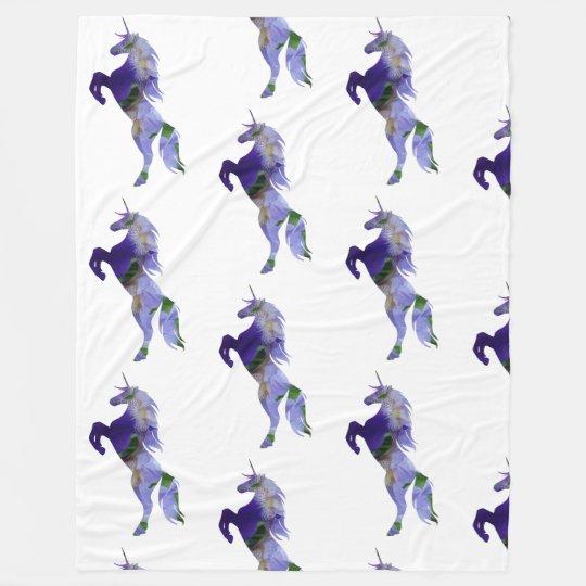 Purple Unicorn Fleece Blanket, Large
