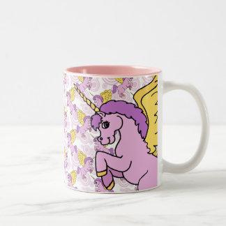 Purple Unicorn Graphic Two-Tone Mug