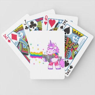 Purple Unicorn - Gun Bicycle Playing Cards