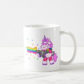 Purple Unicorn - Gun Coffee Mug