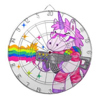 Purple Unicorn - Gun Dart Board