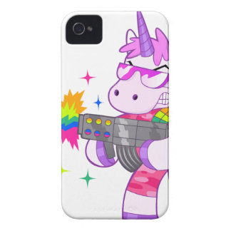 Purple Unicorn - Gun iPhone 4 Case-Mate Cases