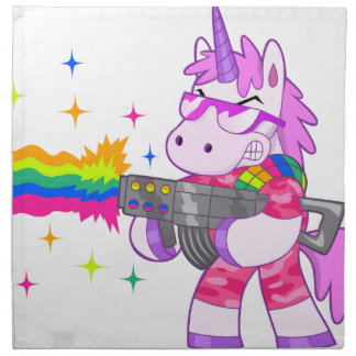 Purple Unicorn - Gun Napkin
