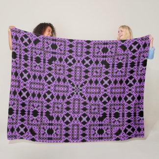 Purple Unicorn Hearts Renaissance Quilt Pattern Fleece Blanket