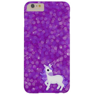 Purple Unicorn on Glitter Pattern iPhone 4 Cases