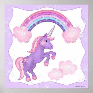 Purple Unicorn Poster