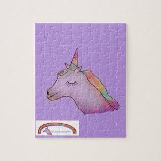 Purple unicorn puzzle