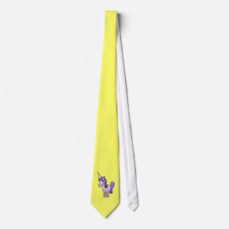 Purple unicorn tie
