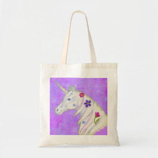 Purple Unicorn tote bag