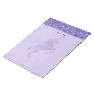 Purple Unicorns Pink Stars Silhouette Notepad