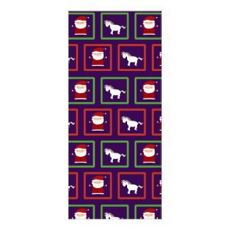 Purple unicorns santa claus pattern customized rack card