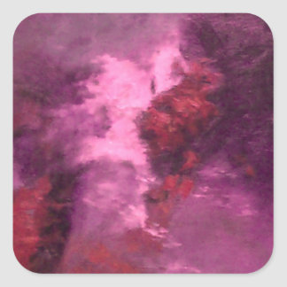 PURPLE UNIVERSE ABSTRACT SQUARE STICKERS