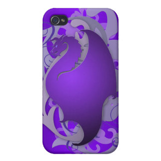Purple Urban Fantasy Dragon 4g I iPhone 4 Cases