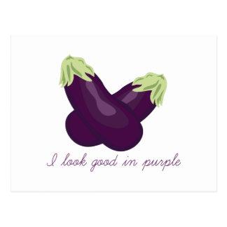 Purple Veggie Post Cards