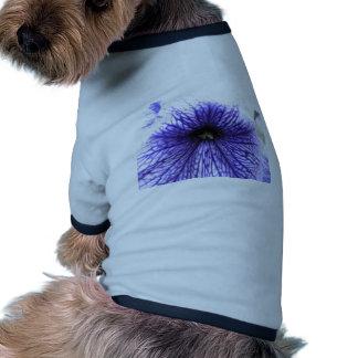 Purple Vein Patterned Flower Doggie Tshirt