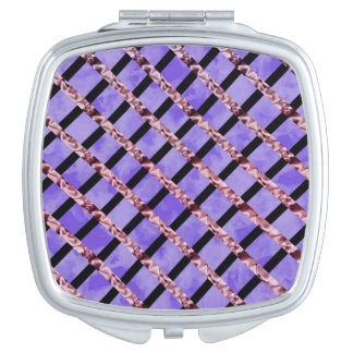 Purple Velvet Compact Mirror