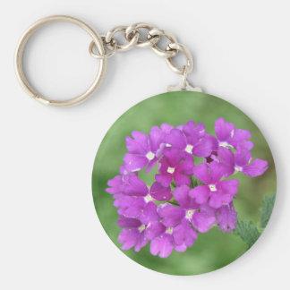 Purple Verbena Key Ring