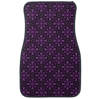 Purple Victorian Fractal Pattern Car Mat
