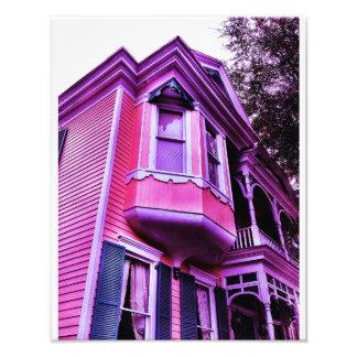 Purple Victorian House Photo Print
