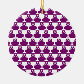 Purple Victorian Lace Christmas Ornament