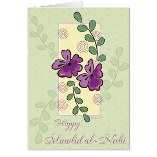 Purple Vines - Mawlid al-Nabi Greeting Card