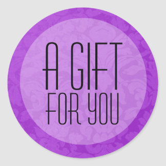 Purple Vintage Background A Gift For You Stickers