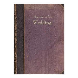Purple Vintage Book Wedding Invitation